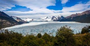 High view of Perito Moreno Glacier in Patagonia - El Calafate, Argentina Royalty Free Stock Image