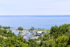High View of Port at Bluffers Park royalty free stock image