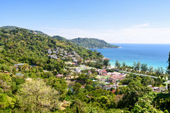 High view resorts on mountain in Phuket island Royalty Free Stock Images