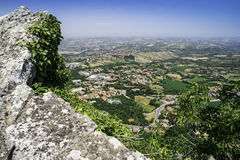 High view from San Marino Stock Photos