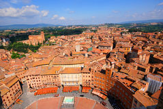 High view of Siena royalty free stock photos