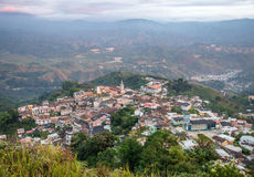 High view of the small town of Zaruma Stock Images