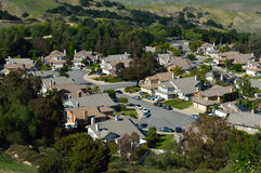 High View of Southern California Inland Suburb. High View of California Inland Suburb in Chino Hills Royalty Free Stock Photos