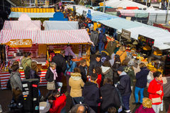 High view of stalls at Camden Foo Stock Photography