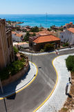 High view of a street of Tarragona, in Spain Royalty Free Stock Photography