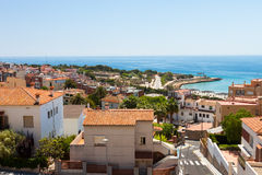 High view on Tarragona town in Spain Stock Images