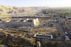 High view of the temple at valley of the kings Stock Image