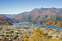 High View on top Kawaguchiko Stock Images