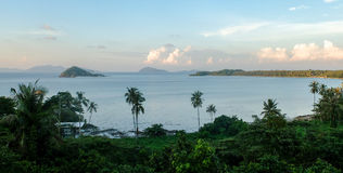 High View from The Top of Mak Island in Thailand, Evening Shot Royalty Free Stock Photography