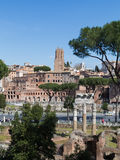 High view of Trajan Markets and Part of the Roman Forum Stock Photos