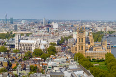 High View of Westminster, England Stock Photos