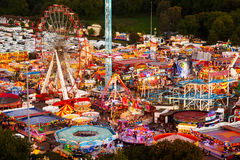 High viewpoint of Goose Fair in Nottingham. Royalty Free Stock Image