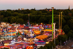 High viewpoint of Goose Fair in Nottingham. Stock Image