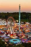 High viewpoint of Goose Fair in Nottingham. Royalty Free Stock Photo