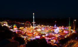 High viewpoint of Goose Fair in Nottingham. Stock Photos