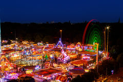 High viewpoint of Goose Fair in Nottingham. Royalty Free Stock Photography