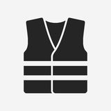High visibility vest. Vector icon isolated on grey background stock illustration