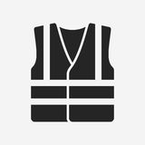High visibility vest. Vector icon isolated on grey background vector illustration