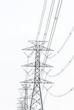 High Volage power tower line Stock Photography