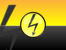 High voltage. Sign in button at the black and red background Royalty Free Stock Photo