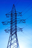 High Voltage. Communications Tower. Electricity Pylon. Power Line Royalty Free Stock Photo