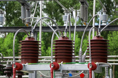 High Voltage. Area keep clear Royalty Free Stock Photography