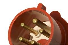 high voltage ac plug close-up royalty free stock photos
