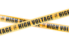 High Voltage Barrier Tapes, 3D rendering Stock Photo