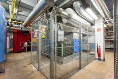 High-voltage cabin stock photo
