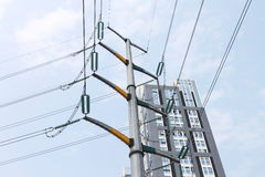 High voltage cable Stock Photos