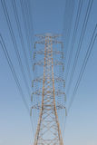 High voltage cable tower Royalty Free Stock Images