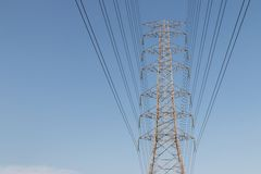 High voltage cable tower Stock Image