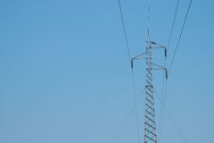 High voltage cable tower Royalty Free Stock Image