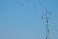 High voltage cable tower Royalty Free Stock Photos