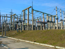 High voltage converter equipment at a power plant Royalty Free Stock Photography