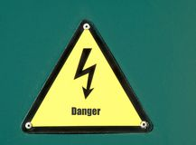 High voltage danger sign Stock Photo