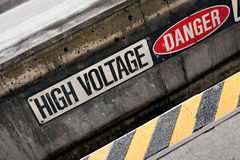 High Voltage Danger Sign Royalty Free Stock Images