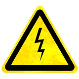 High voltage danger sign Stock Image