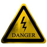 High voltage danger sign Stock Images