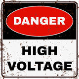 High Voltage. Danger Sign. Vector Royalty Free Stock Photos
