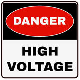 High Voltage. Danger Sign. Vector Stock Photo