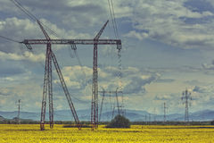 High-voltage electric energy distribution network Royalty Free Stock Image