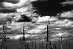 High voltage electric line Royalty Free Stock Image