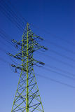 High voltage electric line Stock Photo