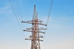 High voltage electric line Royalty Free Stock Photography