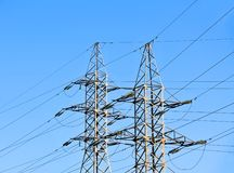 High voltage electric line Royalty Free Stock Photos