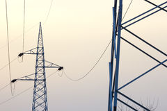 High Voltage Electric Line Royalty Free Stock Images
