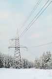 High-voltage electric lines stock photos
