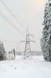 High-voltage electric lines royalty free stock images