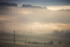 High voltage electric lines Royalty Free Stock Image